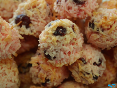 Coconut Drops with Cranberry